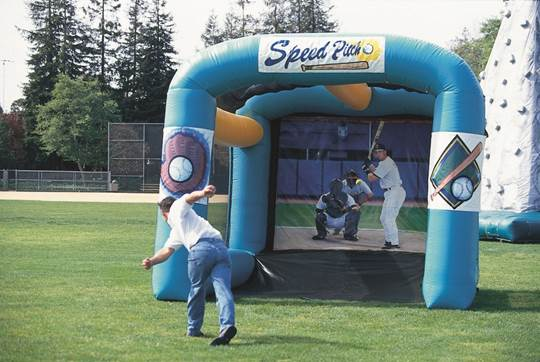 Sports Speed Cage (Inflatable w/backdrop):